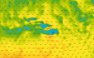 Prévisions de vent 1 à 10 jours Hawaï GFS 27km