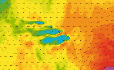 Prévisions de vent 1 à 8 jours Hawaï GFS 27km