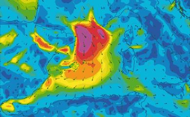 Prévisions de vent 11 à 16 jours Méditerranée Ouest GFS 27km