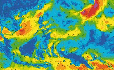 Prévisions de vent 1 à 10 jours Philippines GFS 27km