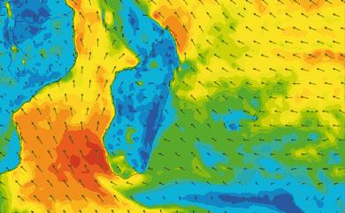 Prévisions de vent 1 à 8 jours Reunion, Madagascar, Maurice GFS 27km
