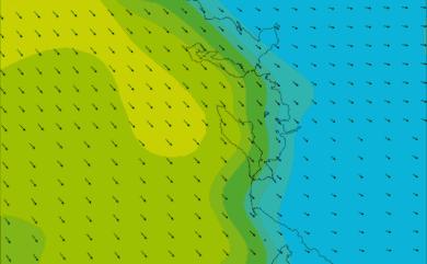 Prévisions de vent HD 96h Charente Maritime WRF 5km