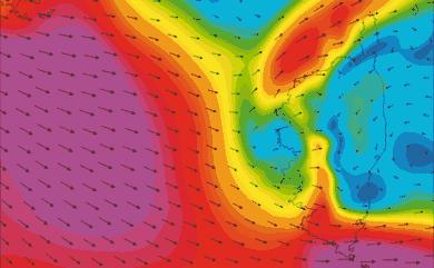 Prévisions de vent HD 96h Corse WRF 5km