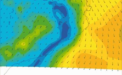Prévisions de vent HD 96h Costa Brava, Costa Dorada WRF 5km