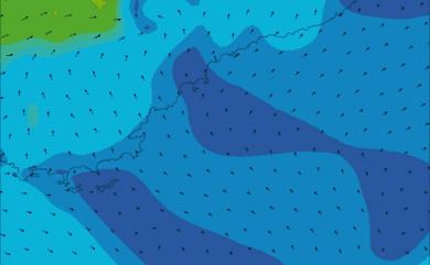 Prévisions de vent HD 96h Côte d'Azur WRF 5km