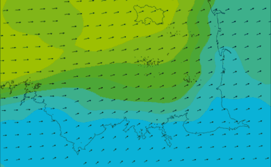Prévisions de vent HD 96h Côtes d'Armor, Ille et Vilaine WRF 5km