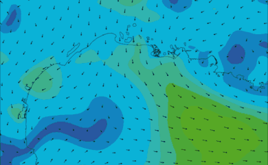 Prévisions de vent HD 96h Golfe du Lion WRF 5km
