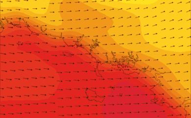 Prévisions de vent HD 96h Morbihan, Loire Atlantique Nord WRF 5km