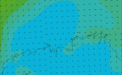 Prévisions de vent HD 96h Nord Finistère WRF 5km