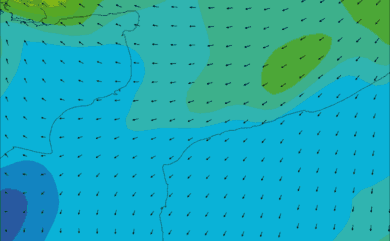 Prévisions de vent HD 96h Pas de Calais, Cap Gris Nez WRF 5km