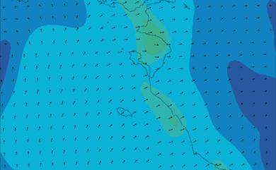 Prévisions de vent HD 96h Vendée, Loire Atlantique Sud WRF 5km